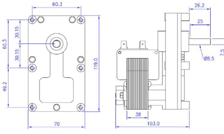 Mtr 02 motoriduttore per stufe a pellet compatibile per for Tarature tecnico extraflame