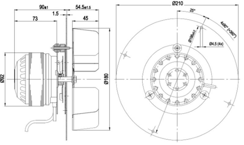 Estrattore ventola fumi per stufe a pellet est02 90025 for Tarature tecnico extraflame